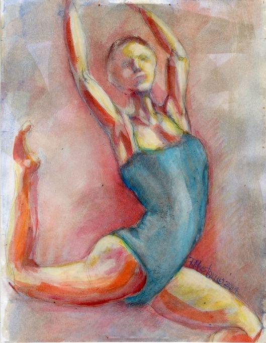 """Dance 12"" original fine art by Richard Huston"