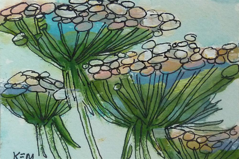 """Queen Annes lace II"" original fine art by Karen Margulis"