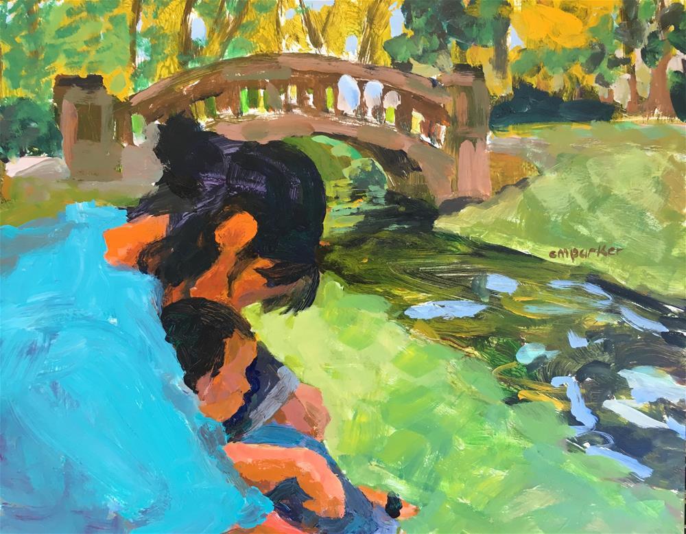 """Mother and child"" original fine art by Christine Parker"