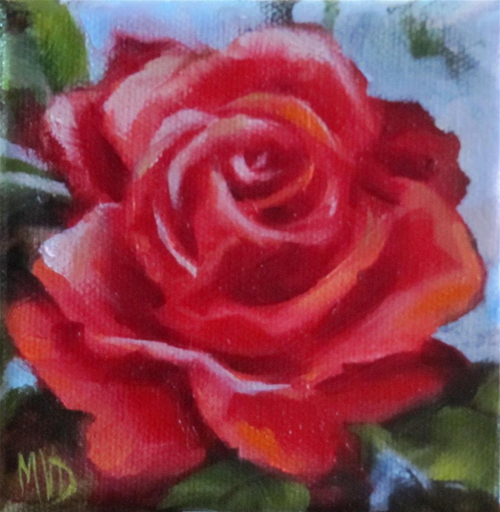 """Red Rose"" original fine art by Mary Van Deman"