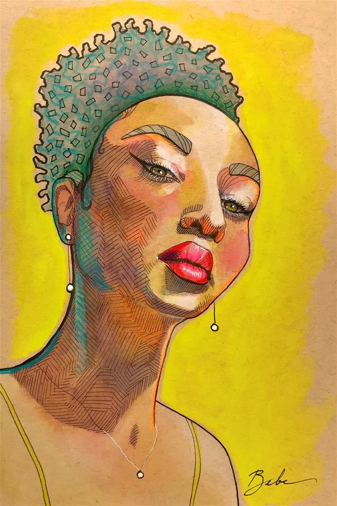 """SK 232 Sharing Her Light"" original fine art by Bebe Keith"