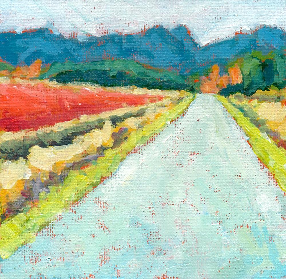 """wish you were here"" original fine art by Shelley Garries"
