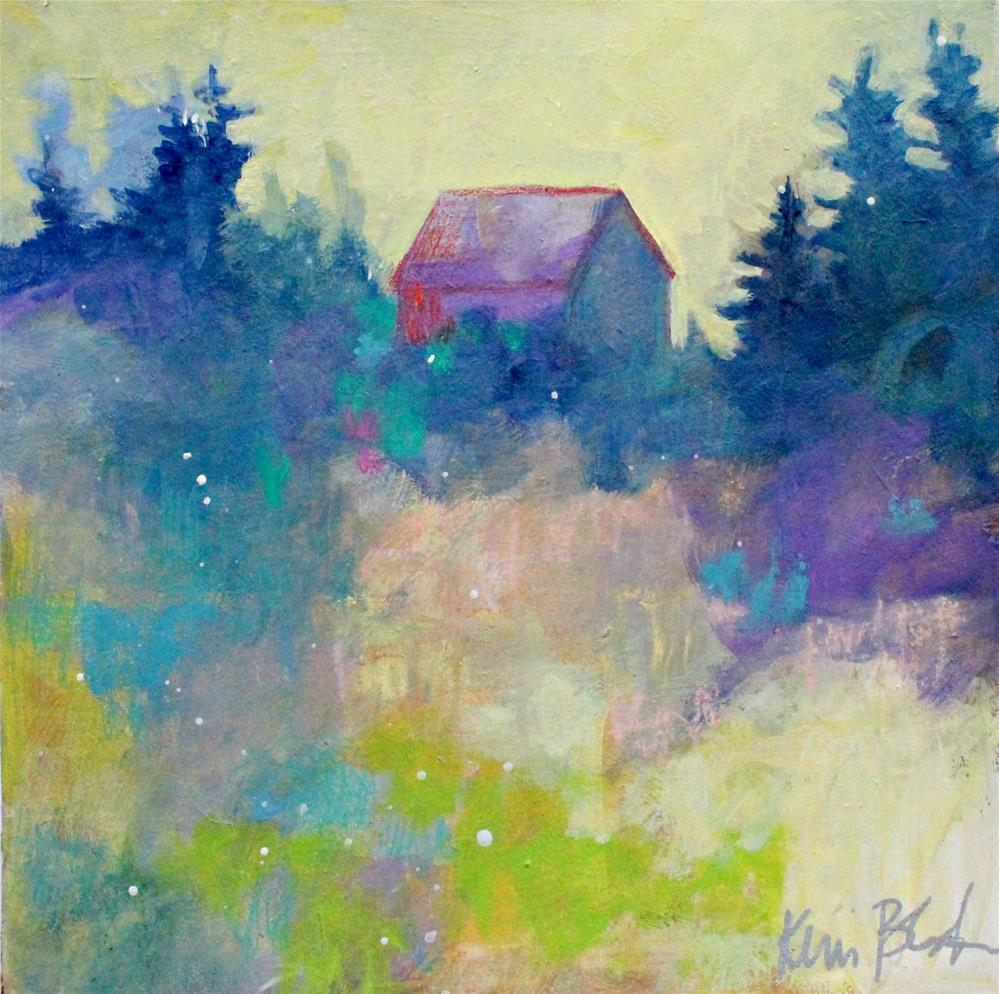 """Off in the Trees "" original fine art by Kerri Blackman"