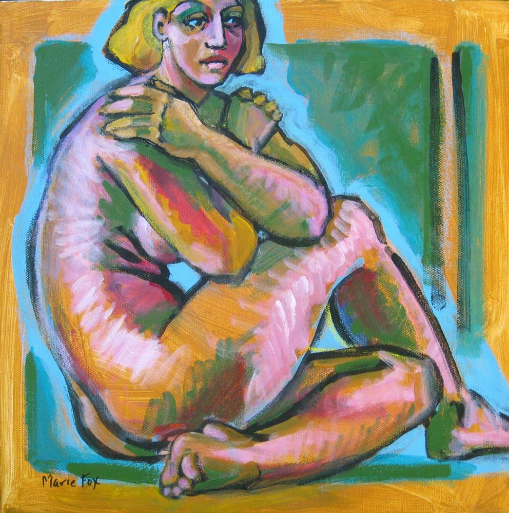 """Nude female figure painting M Fox original woman figuration, contemporary Expressionism"" original fine art by Marie Fox"