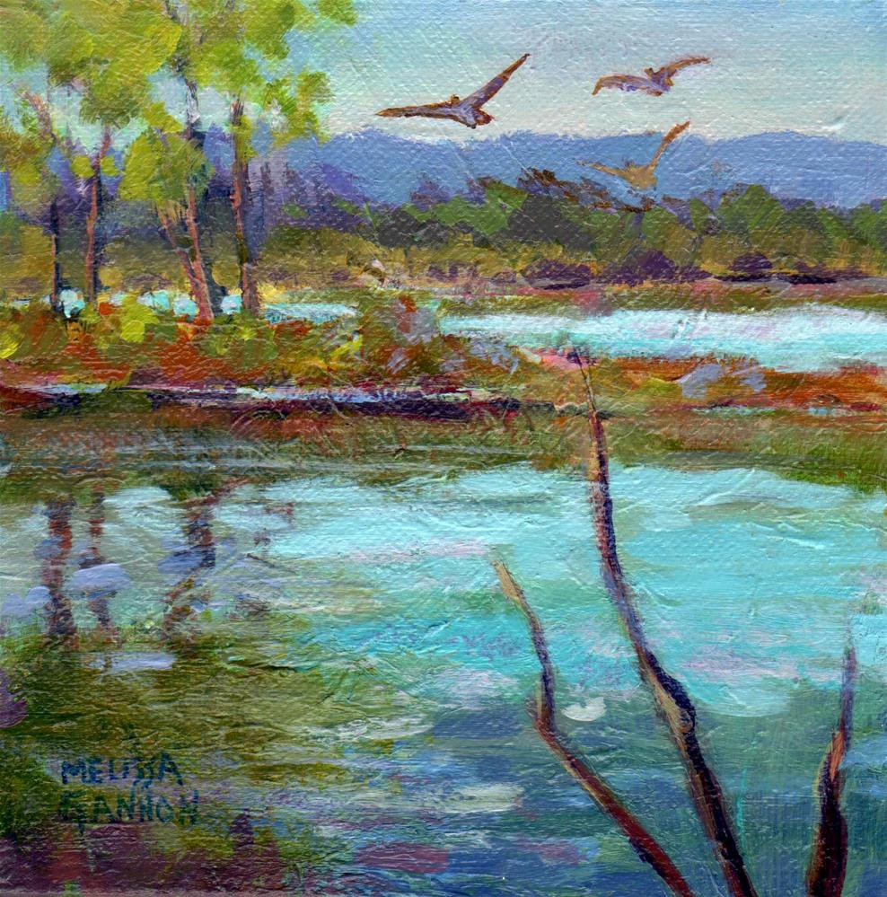 """Marsh Haven"" original fine art by Melissa Gannon"