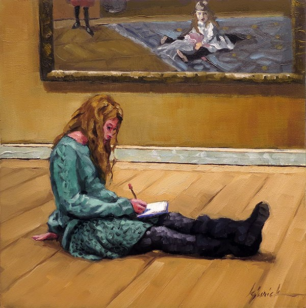 """Floored"" original fine art by Karin Jurick"