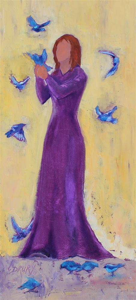 """""""Flutter"""" original fine art by Colleen Drury"""