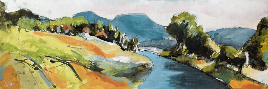 """2461 Acrylic Landscape Sketch II"" original fine art by Dietmar Stiller"