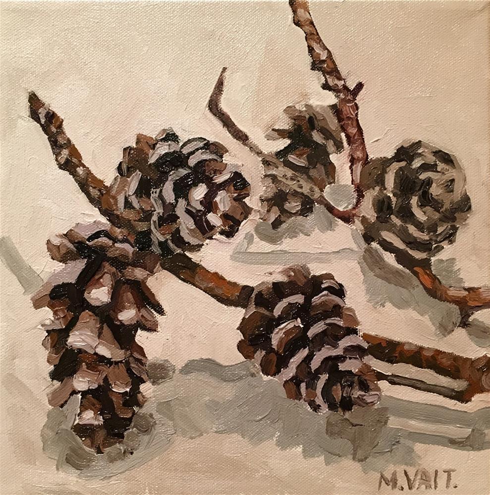 """""""Pine Cones"""" original fine art by Milda Vaitiekunaite"""