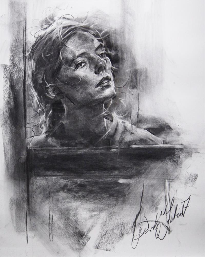 """""""Portrait in Charcoal № 7"""" original fine art by Dimitriy Gritsenko"""
