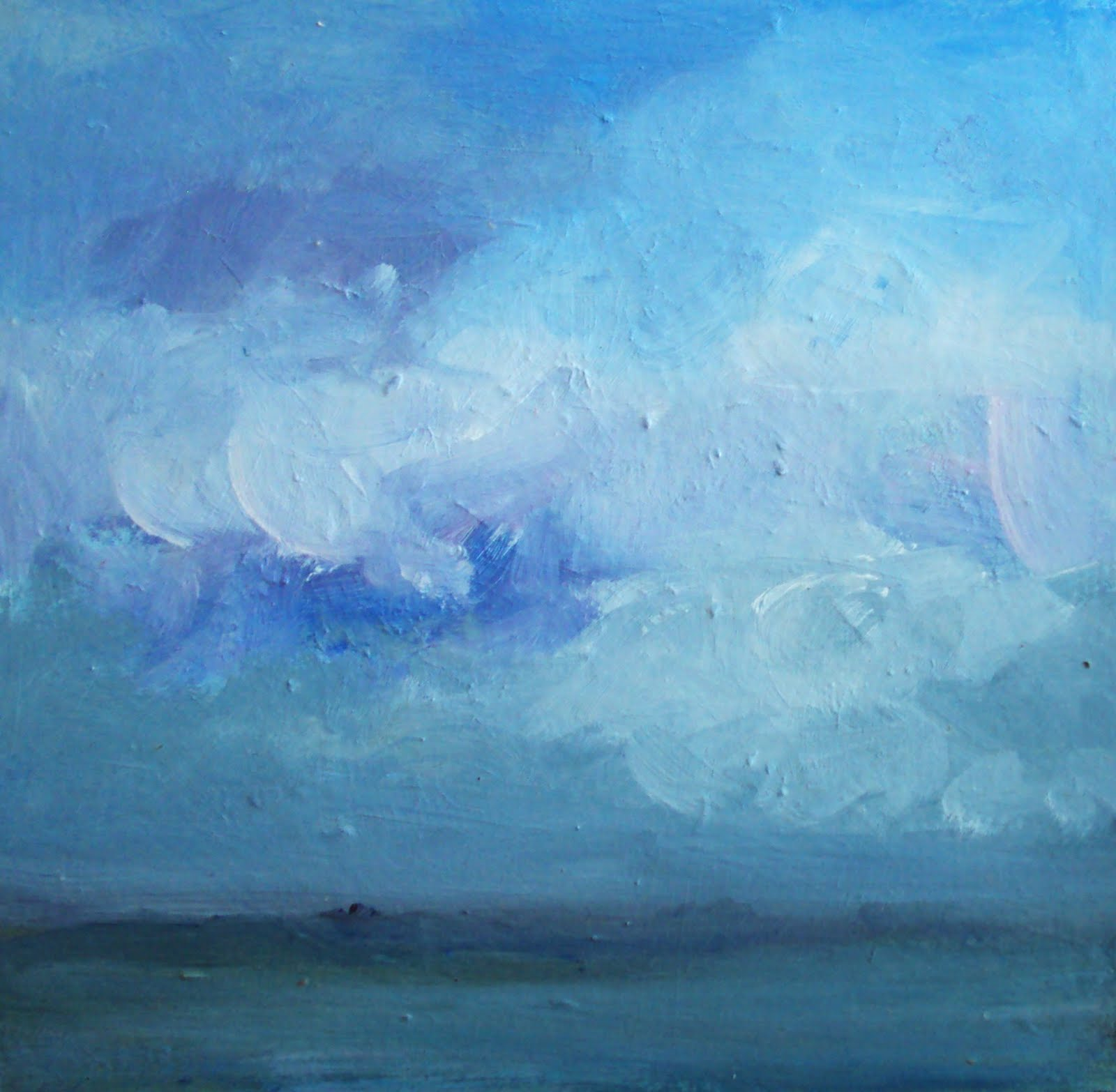 """blue sky"" original fine art by Parastoo Ganjei"