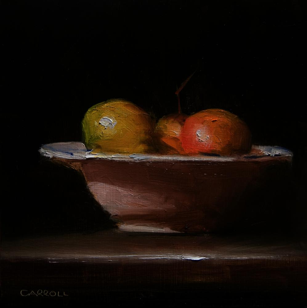 """Bowl wuth Grapes"" original fine art by Neil Carroll"