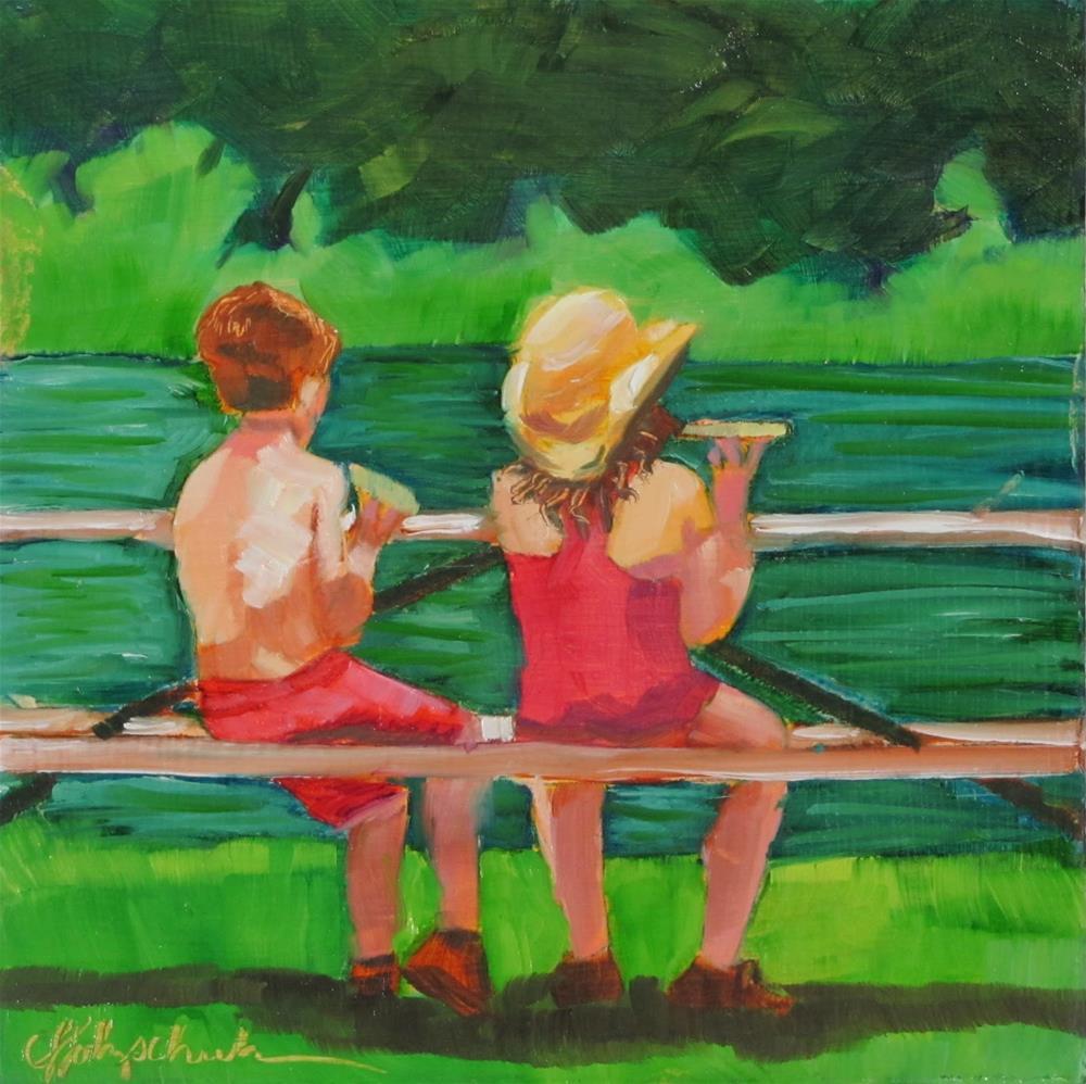 """Picnic"" original fine art by Christine Holzschuh"
