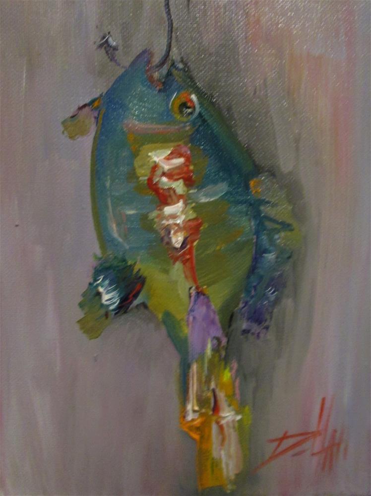 """The Biggest Fish"" original fine art by Delilah Smith"