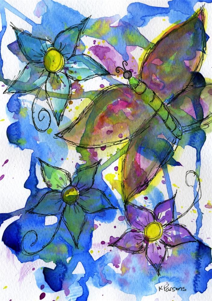 """""""Butterfly Bliss"""" original fine art by Kali Parsons"""