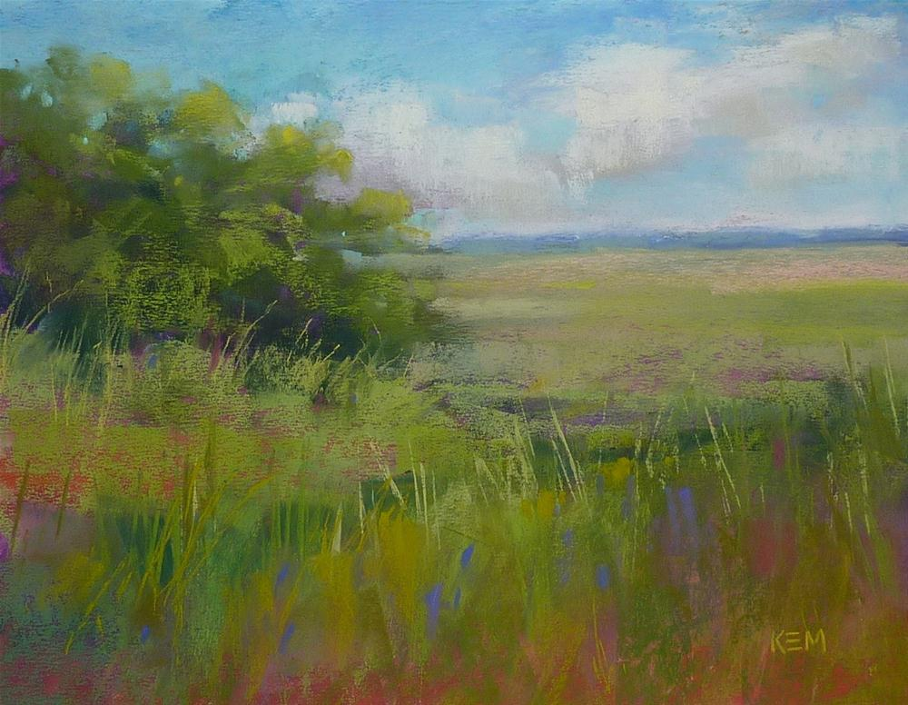 """""""Painting the Greens of the Southeast"""" original fine art by Karen Margulis"""