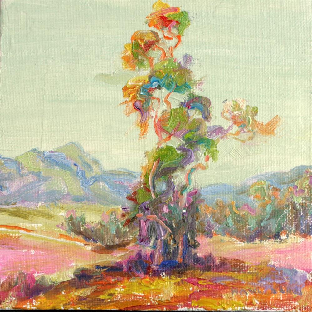 """Eucalyptus in Spring"" original fine art by Cynthia Mahlberg"