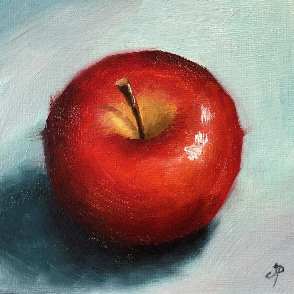 """Red Apple"" original fine art by Jane Palmer"