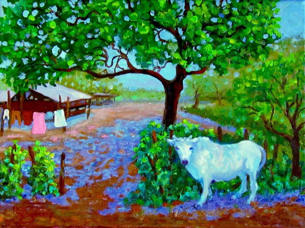 """Water-Buffalo Welcome"" original fine art by Patricia Musgrave"