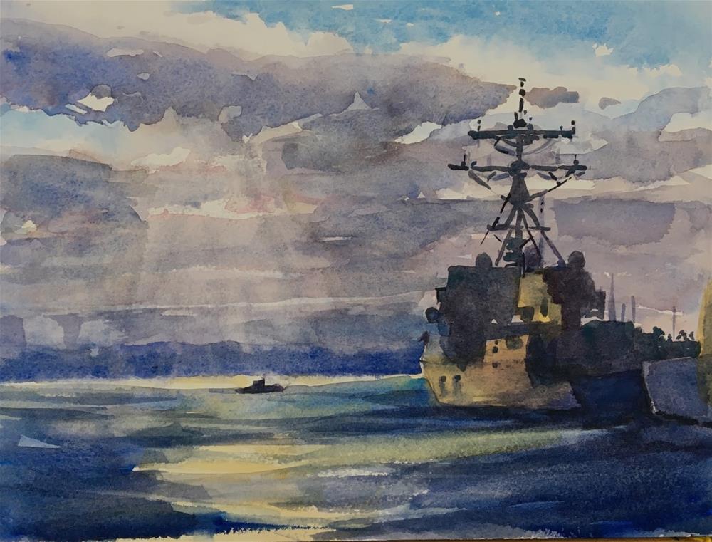 """Fleet Week!"" original fine art by Katharine Engh"