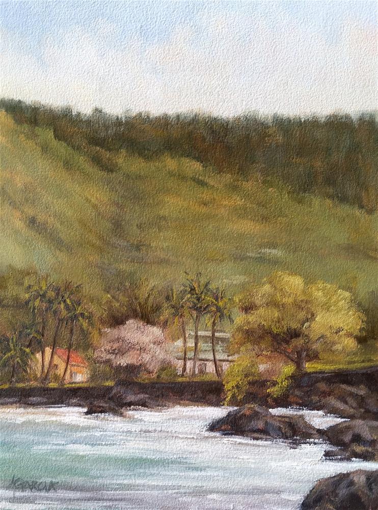 """Manini Beach"" original fine art by Jeannie Garcia"