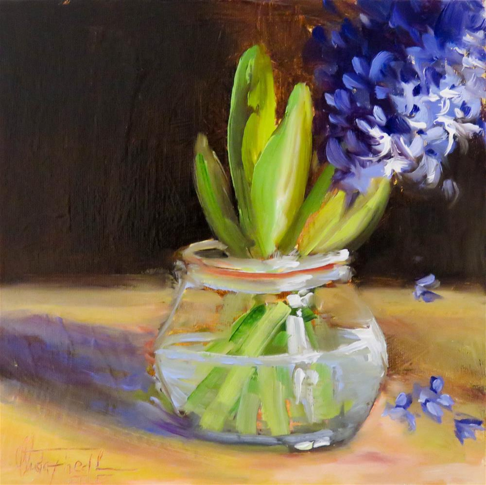 """Hyacinths"" original fine art by Christa Friedl"