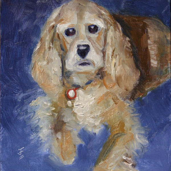 """Freckles"" original fine art by Jane Frederick"