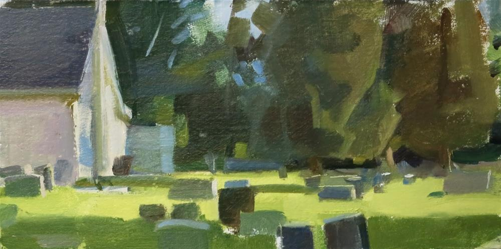 """Jerusalem Lutheran Church Graveyard"" original fine art by Taryn Day"