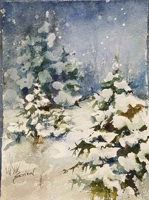 """Last Light"" original fine art by Sue Dion"