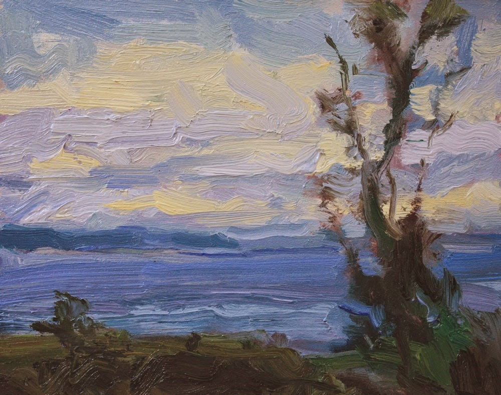"""""""Across to Whidbey"""" original fine art by Kathryn Townsend"""