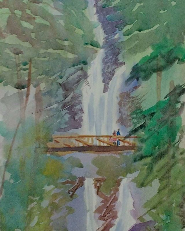 """Amicalola Falls"" original fine art by Maria Peagler"