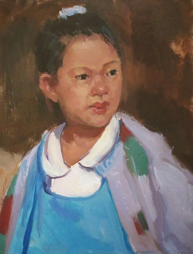 """Chinese Girl - NFS"" original fine art by Kathryn Townsend"