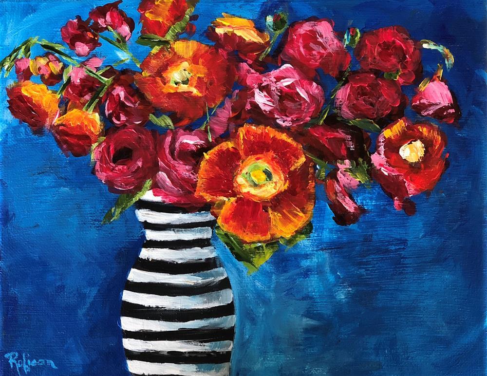 """Bursting with Color"" original fine art by Renee Robison"
