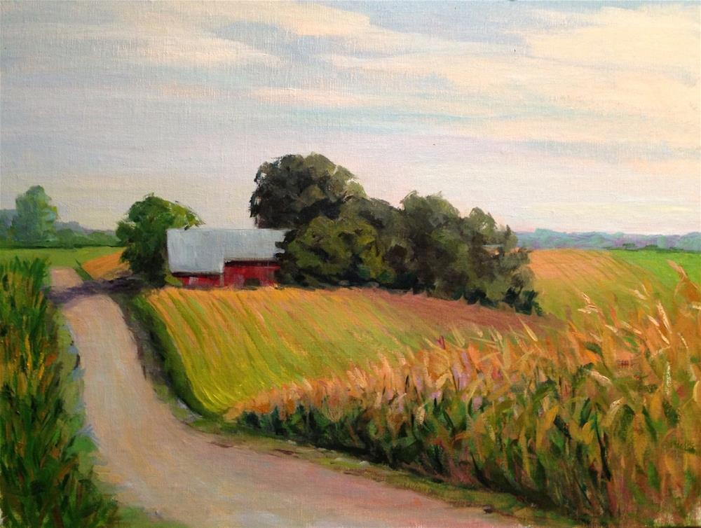 """""""The Millers Farm"""" original fine art by Judith Anderson"""