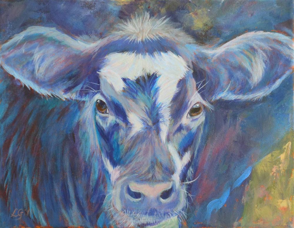 """Kate's Cow"" original fine art by Lyn Gill"