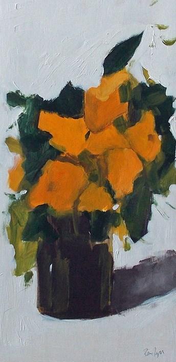 """Orange Blooms"" original fine art by Pamela Munger"