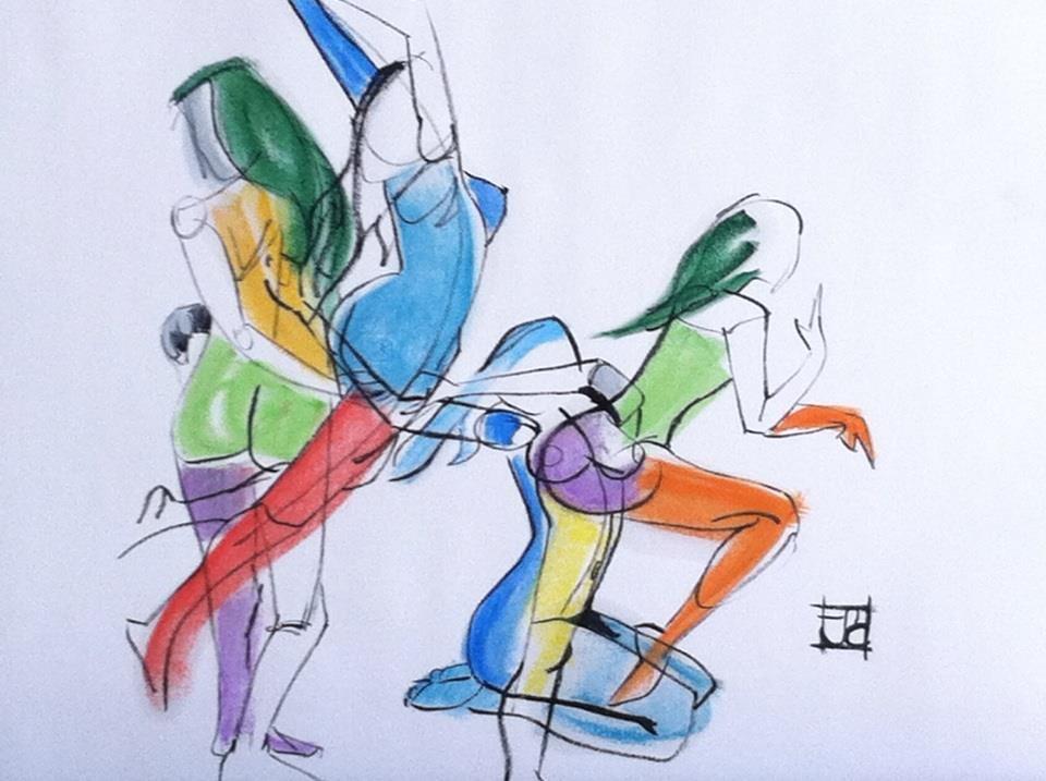 """""""Women in Motion"""" original fine art by Arron McGuire"""