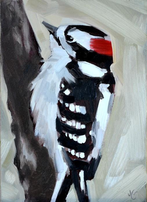 """Woodpecker 2"" original fine art by Jessica Green"