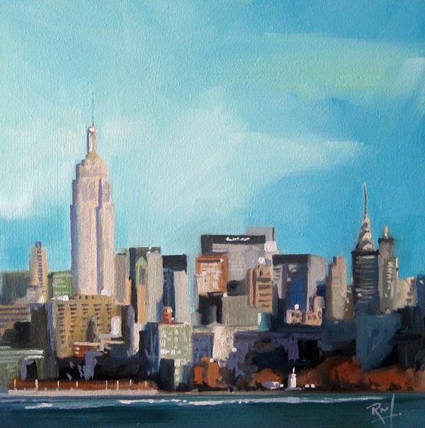 """NY Afternoon"" original fine art by Robin J Mitchell"