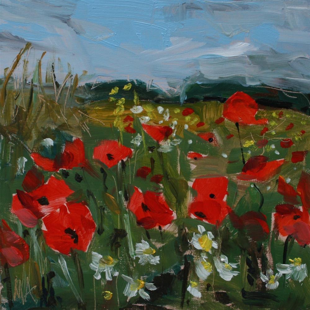 """A Poppy Field"" original fine art by Aniko Makay"