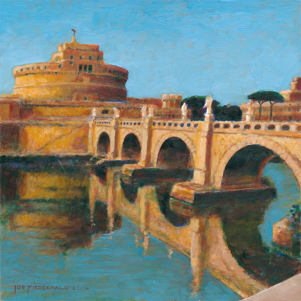 """Ponte St. Angelo"" original fine art by Joe Fitzgerald"