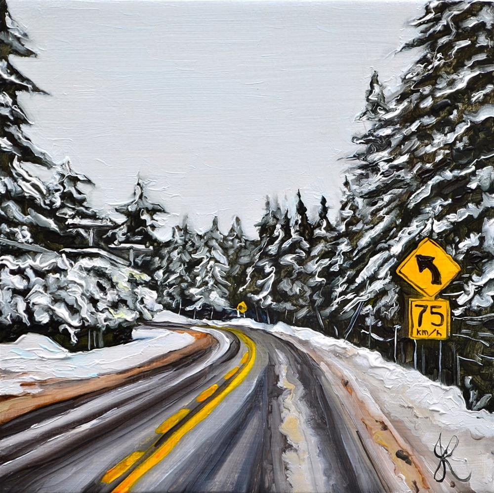 """Snowy Turvy"" original fine art by Jacinthe Rivard"