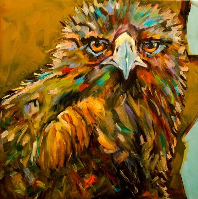 """""""ARTOUTWEST DIANE WHITEHEAD GOLDEN EAGLE DIANE WHITEHEAD FINE ART OIL PAINTING"""" original fine art by Diane Whitehead"""