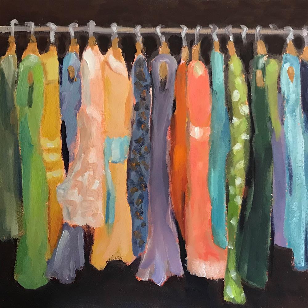 """What to Wear?"" original fine art by Lisa Sotero"