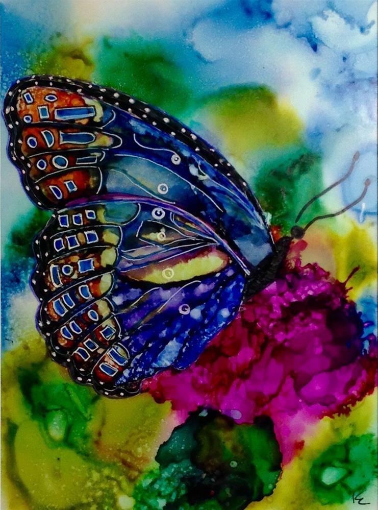 """Abstract Butterfly II"" original fine art by Korinne Carpino"