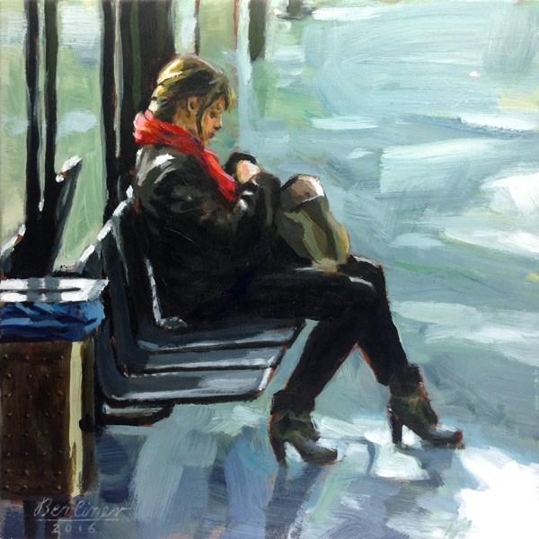 """080 Das rote Tuch"" original fine art by Anja Berliner"