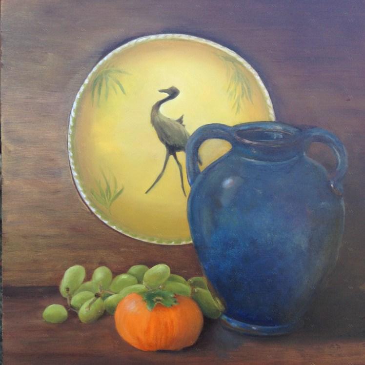 """""""She loved the blues"""" original fine art by Karen Stitt"""