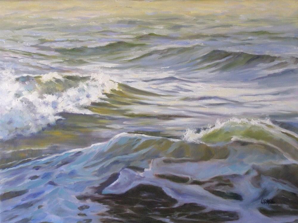 """""""Ocean Shadow, 18x24 Oil on Canvas"""" original fine art by Carmen Beecher"""