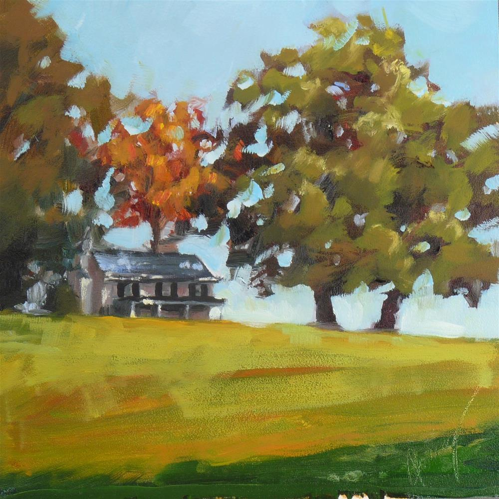 """The Winemaker's Hut"" original fine art by Sharman Owings"