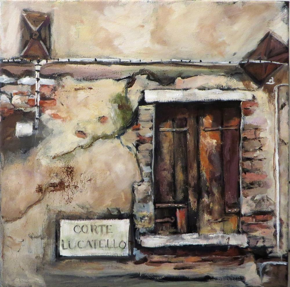 """876 View From the Courtyard"" original fine art by Diane Campion"